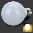 E27 5W 400lm 2800K 10-SMD 5730 LED Warm White Light Bulb - Weiß + Silber (AC 85 ~ 265V)