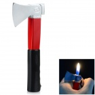 Creative Axe Shaped Metal + ABS Butane Gas Lighter - Black + Red + Multi-Color