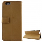 Schutz PU-Leder + PC Flip Open Case w / Card Slots / Ständer für iPhone 6 PLUS - Light Coffee