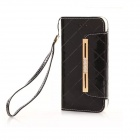 Fashion Handbag Style PU + TPU Flip Open Case w/ Stand / Card Slots / Strap for IPHONE 6 - Black