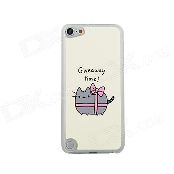Cute Cat w/ Bow Pattern Ultra-thin Protective PC Back Case for IPOD TOUCH 5 - Multicolored