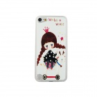 Little Girl Pattern Ultra-thin Protective PC Back Case for IPOD TOUCH 5 - White + Multicolored