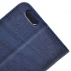 "Luxury Wood Grain PU + TPU Protective Case for IPHONE 6 4.7"" - Navy Blue"