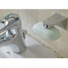Creative Stainless Steel Soap Holder Rack w/ Strong Suction Cup - Silver