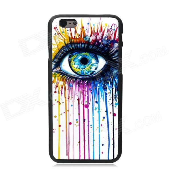 Elonbo Tears Eyes Plastic Hard Back Case for IPHONE 6 - White + Yellow + Multi-Color