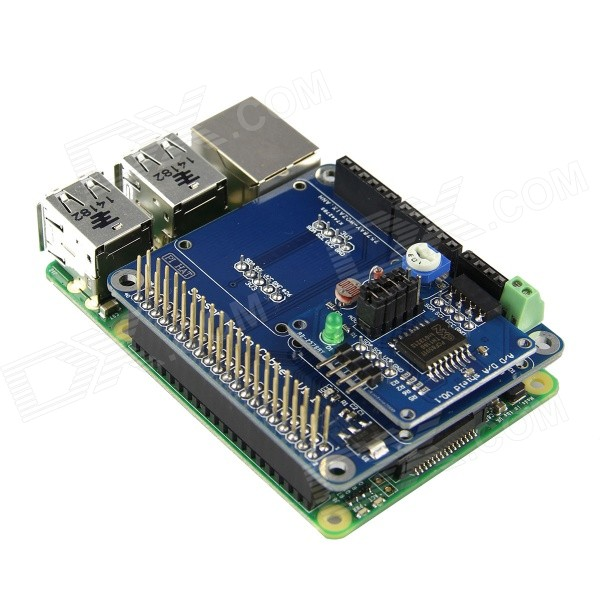 Ad da shield module for raspberry pi and arduino blue