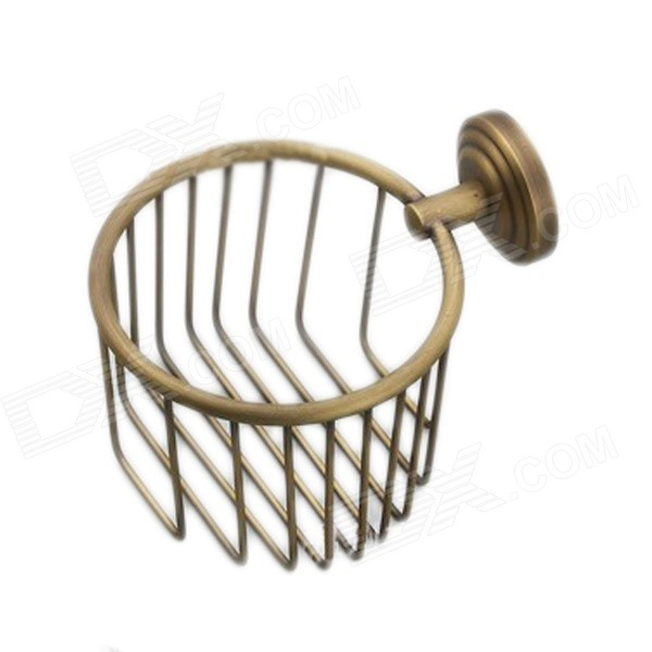 Y3698 Retro Napkin Towel Toilet Paper Bin Basket Holder - Antique Brass classic wall mounted antique brass bathroom soap basket bath shower shelf basket holder building material vintage elegant 9013k