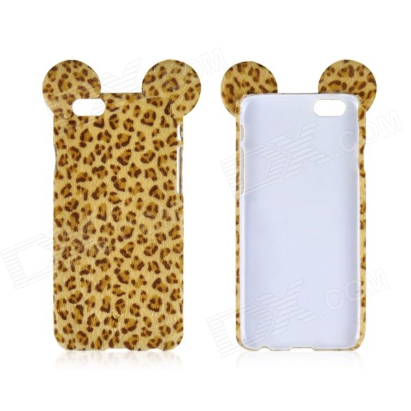 Angibabe TPU+PC Leopard Print Back Case for IPHONE 6 PLUS 5.5 - Yellow iface mall glossy pc non slip tpu back case for iphone 6 plus 6s plus blue
