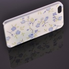 Fashion Little Floral Plastic Back Case for IPHONE 5 / 5S - Blue + Green + White