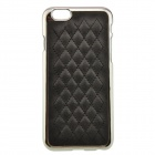Diamond Check Protective PU + PC Back Case for IPHONE 6 - Black