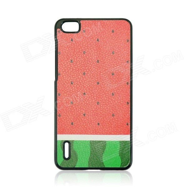 Watermelon Pattern Plastic Back Cover Case for HUAWEI Honor 6 - Red + Green watermelon pattern protective pc back case for iphone 6 4 7 red green multi color