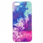 Colorful Star River Pattern Painted Plastic Case for IPHONE 5 / 5S - Deep Pink + Blue