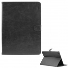 ENKAY Protective PU Leather Case w/ Stand / Card Slots / Auto Sleep for IPAD AIR 2 - Black