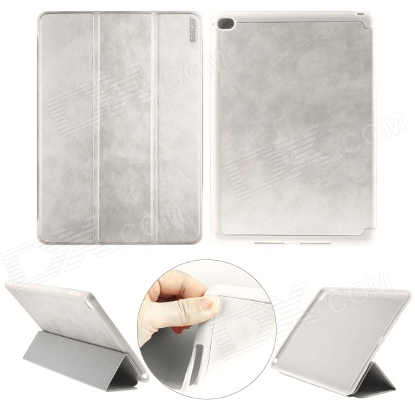 ENKAY Protective PU Leather Full Body Case w/ Stand / Auto Sleep / Wake-up for IPAD AIR 2 - White юбки lady sharm classic юбка