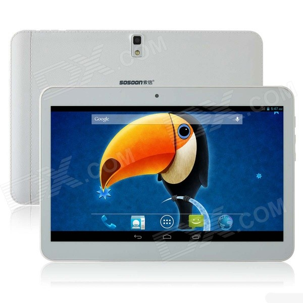SOSOON X9 9 Android 4.2 Dual-Core 3G Tablet PC w/ 4GB ROM, 2 x SIM, Bluetooth, GPS - White jiake f1w 5 0inch capacitive touch screen mtk6572 dual core 1 2ghz smartphone 512mb 4gb 2 0mp 0 3mp android 4 2 os 3g gps with protective case black