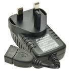 3A USB Wall Charger Power Adapter for Mobile Phone / Tablet PC - Black (UK Plug)