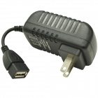 3A USB Wall Charger Power Adapter for Mobile Phone / Tablet PC - Black (US Plug)