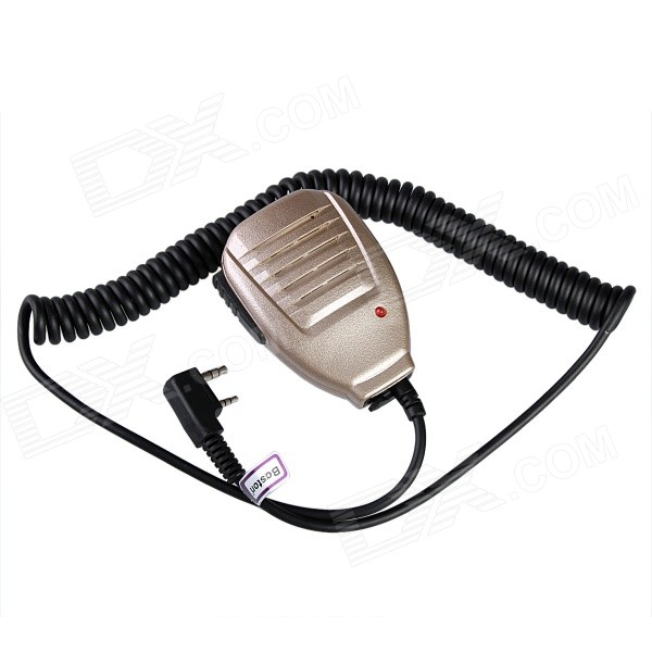 Baiston BST-32 Iron Clamp Handheld Microphone for Walkie Talkie - Gold handheld microphone for motorola walkie talkie red