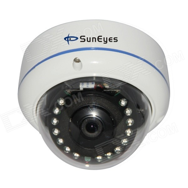 SunEyes SP-Q702 1/4 CMOS 1.0MP Waterproof IP Camera w/ 15-IR-LED / IR-CUT / Wi-Fi - White (EU Plug) inc new brown pleated neckline women s size small s scoop neck sweater $49