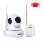 ESCAM Patron QF500 1/4 CMOS 1.0MP Alarm IP Camera w/ 10-IR-LED / Wi-Fi - White (UK Plug / PRESALE)
