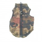 Cotton-Padded Vest for Pet Dog - Camouflage (Size S)