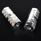 Bicycle Six Column Pedal Footrests - Silver (Pair)