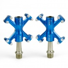 B-055 Outdoor Cycling Aluminum Alloy Bike Pedal Set - Blue