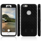 3-in-1 Robot Tire Grain Pattern Silicone Cover Case for IPHONE 6 PLUS - Black