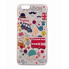 "London Cartoon Cars Pattern Relievo Protective PC Back Case for IPHONE 6 4.7"" / 6S - Multicolored"