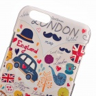 coches de dibujos animados londres Relievo PC de nuevo caso para IPHONE 6 / 6S - multicolor