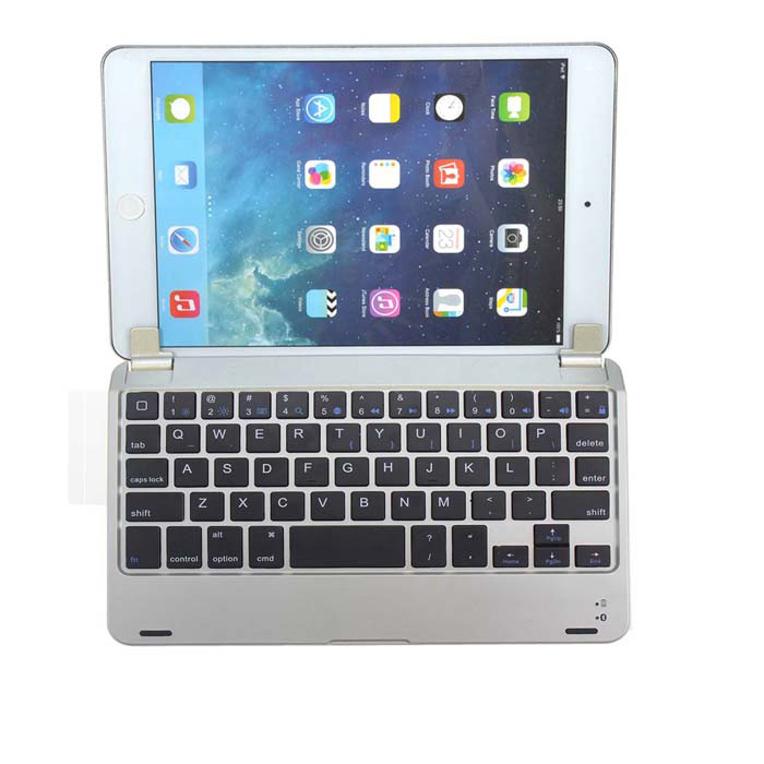 все цены на Premium Metal Aluminum Ultrathin Wireless Bluetooth Keyboard for IPAD MINI - Silver онлайн