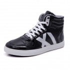 Men's Sports Casual Plush Lined Warm High Shoes Sneakers - Black (43 / Pair)