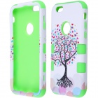 "3-in-1 Love Heart Tree Pattern Protective PC + Silicone Case for IPHONE 6 4.7"" - Green"
