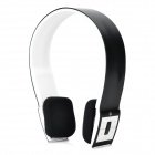 Portable Bluetooth V3.0 Wireless Headband Headphone - White + Black