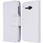 High Quality PU Leather Flip Case with Holder Stand for TCL S810 - White