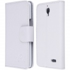 High Quality PU Leather Flip Case with Holder Stand for TCL S820 - White