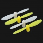 H1-02 Replacement Blades for LH-H1 R/C Quadcopter - Yellow + White (4 PCS)