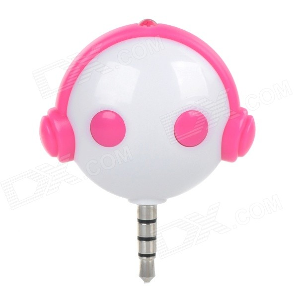 Ucontrol Mini IR Remote Control w/ 3.5mm Jack for TV / Air Conditioner / Set-top Box - White + Pink