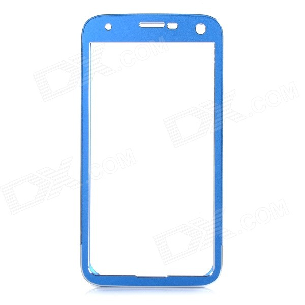 Push-Pull Protective Aluminum Alloy Bumper Frame Case for Samsung Galaxy S5 i9600 - Blue