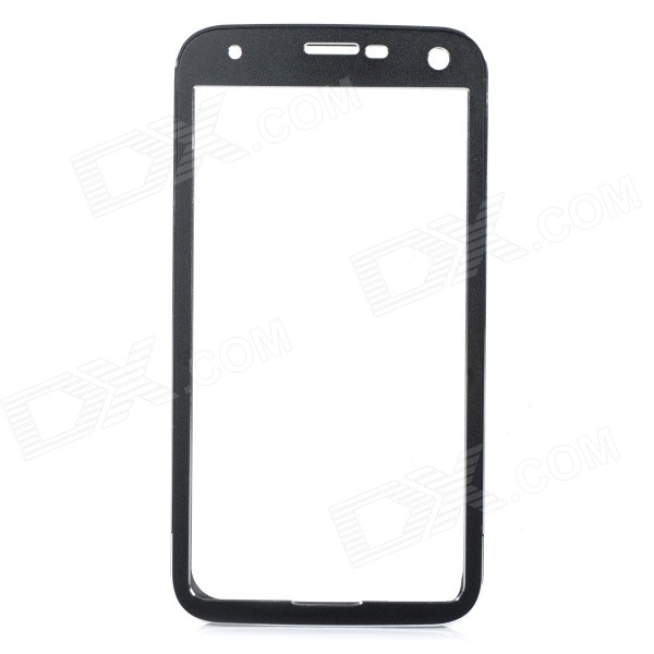 Push-Pull Protective Aluminum Alloy Bumper Frame Case for Samsung Galaxy S5 i9600 - Black