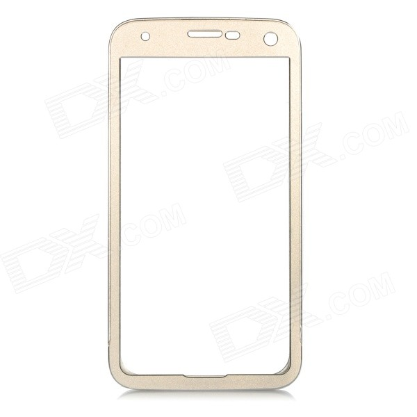 Push-Pull Protective Aluminum Alloy Bumper Frame Case for Samsung Galaxy S5 i9600 - Champagne Gold protective aluminum alloy bumper frame case for sony xperia z2 champagne gold