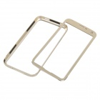 Push-Pull Protective Aluminum Alloy Bumper Frame Case for Samsung Galaxy S5 i9600 - Champagne Gold