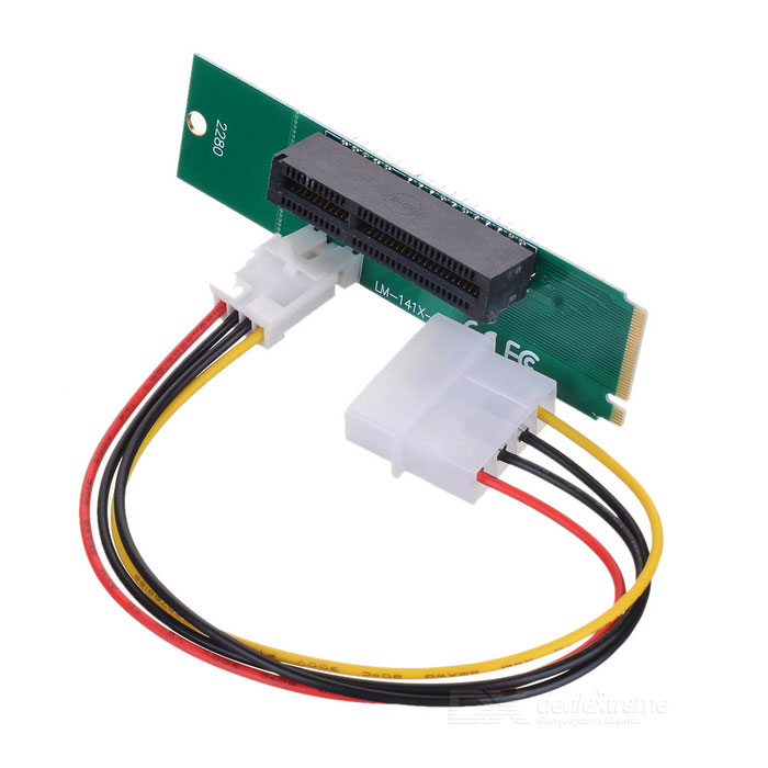 Free-Drive M.2 NGFF to PCI-E X4 Adapter Card for Desktop PC - Green ssd add on cards 2 5 enclosure adapter u 2 sff 8639 to m 2 pci e i f with cable ngff convert card