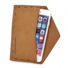 Personalized Envelope Style Protective PU Leather Case Pouch for IPHONE 6 / 5 / 5S - Brown