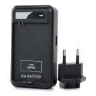 US Plug Battery Charger / Charging Dock Station w/ USB Port & EU Plug Adapter for LG BL-53YH - Black