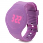 HZ-43 Casual PVC Band Digital Red LED Touch Screen Watch - Purple (1 x CR2016)