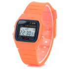 F-91W Fashion Rubber Band Digitaalinen LED Watch - Orange (1 x CR2016)