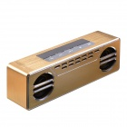 600T Wireless Bluetooth 4.0 Stereo Speaker w/ 3.5mm / Mic / TF Slot - Gold