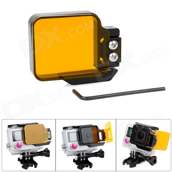 Fat Cat F-DY4 Professional Underwater Diving Color-Correction Filter for GoPro Hero 4 / 3+ - Yellow