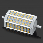 R7S 10W 650lm 2700K 48-SMD 5050 LED Warm White Light Bulb - Weiß + Silber (AC 85 ~ 265V)